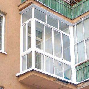 Французское остекление балкона Слайдорс