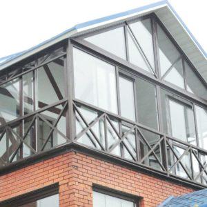 Остекление в коттедже (загородном доме), балкон 9 метров