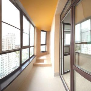 Окна в пол в квартире Века Пролайн
