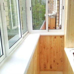 Вынос остекления балкона на 30 см